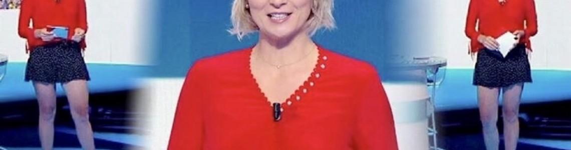 The presenter France Pierron wears Margot VII