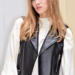 Lambskin leater waistcoat
